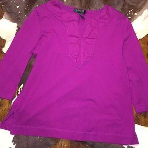 Lauren Ralph Lauren Petites Knit Long Sleeve Top